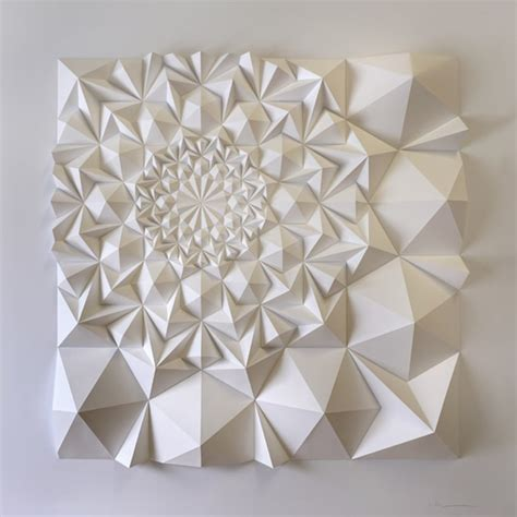Geometric Paper Folding - paper engineering produces mesmerizing geometric sculptures