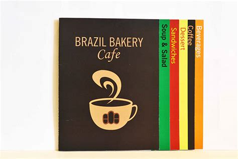 menu card design layout menu card for brazil bakery cafe on behance