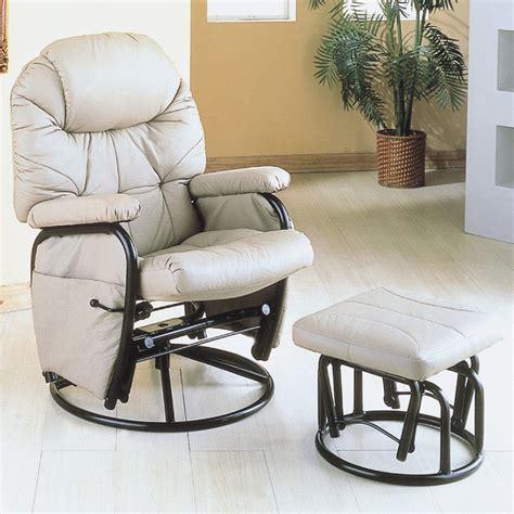 Modern Rocker Recliner Chairs by Taupe Metal Swivel Rocker Recliner With Ottoman Modern