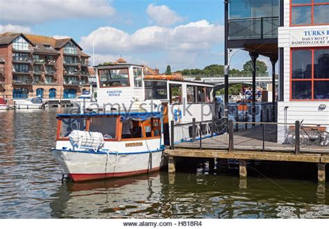 thames river cruise from kingston boats on river kingston upon thames stock photos boats