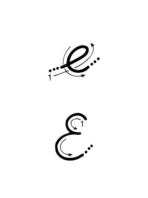 lettere alfabeto in corsivo maiuscolo e minuscolo lettere e numeri lettera e con indicazioni movimento