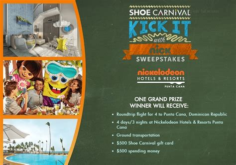 Shoe Giveaway Contest - shoe carnival s kick it with nick sweepstakes sweepstakesbible