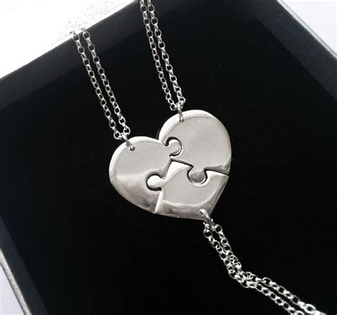 Tell Us Which Jewelry You Like Best And Win by 3 Best Friend Necklace Silver Necklace Personalised