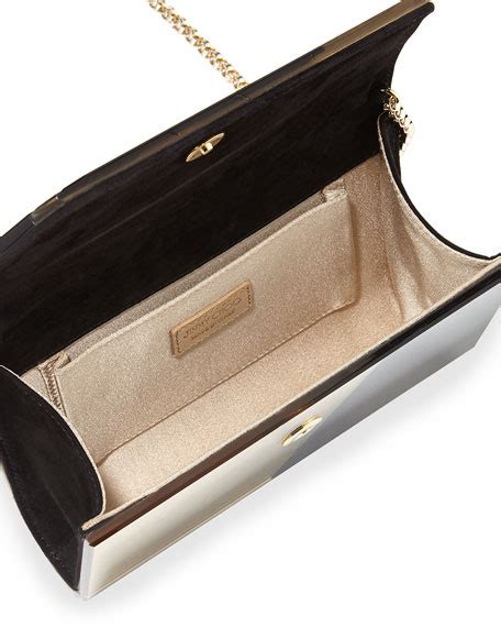 Mirror Clutch Bag by Jimmy Choo Bicolor Patchwork Mirror Clutch Bag