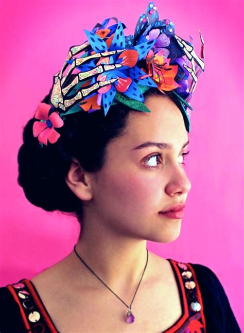 Cheerful Fantasia Flowercrown Flower Crown day of the dead paper flower crown skeleton costume idea