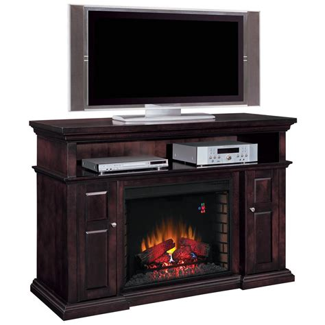 Furniture. Elegant Corner Electric Fireplace Entertainment
