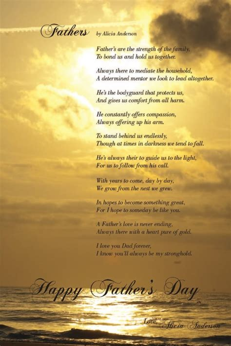 touching fathers day poems  kids
