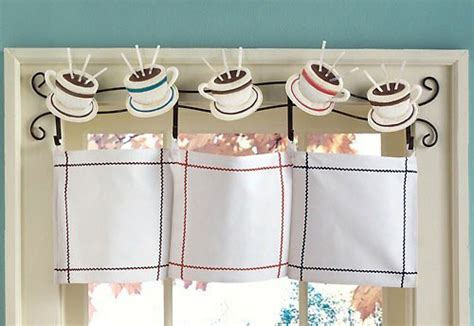 Coffee Print Kitchen Curtains Coffee Curtains For Kitchen