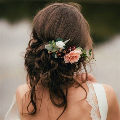 wedding hairstyles flower 18 trending wedding hairstyles with flowers page 3 of 3
