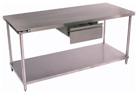 stainless steel kitchen island table stainless work tables by aero contemporary kitchen