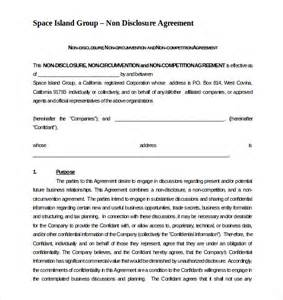 confidentiality and non compete agreement template non compete agreement template 8 free word excel pdf