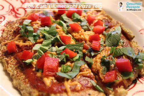 carb blumenkohl pizzateig gesunderezepteme