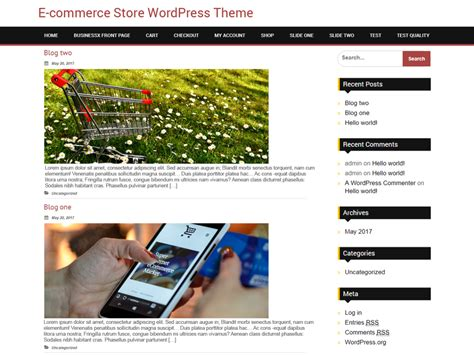 store themes wordpress free download free bb ecommerce store wordpress theme