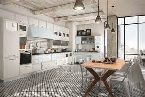 Aluminum Kitchen Cabinets vintage kitchen offers a refreshing modern take on fifties