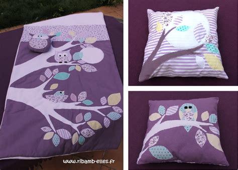 dimensions tour de lit collection hibou violet mauve turquoise 2 ribamb elles