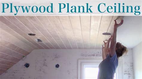 diy plywood plank ceiling youtube arizona house