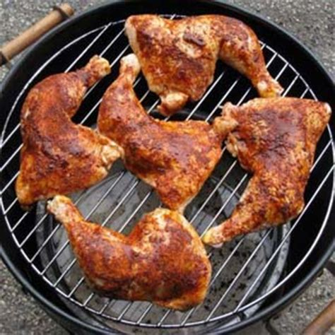 how to cook chicken quarters on the grill
