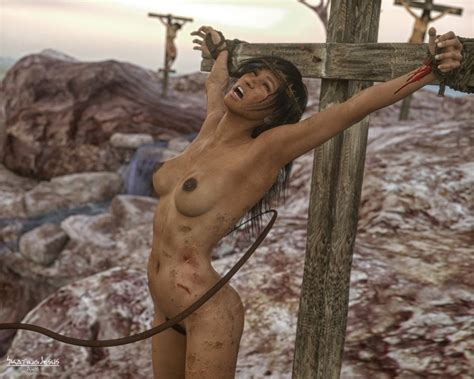 Crucifixion Naked Crucified Women Art Igfap
