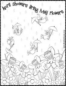 april coloring pages april coloring pages to and print for free