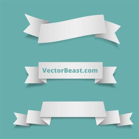 free ribbon vector banner set in ai eps cdr format classic ribbons banner vector set vector free download