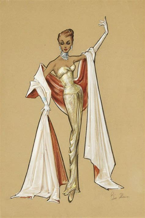 fashion illustration color pencil costume design sketch high fashion and bill o brien on