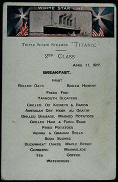 titanic second class menu free 12 page lesson plan on kids discover titanic free