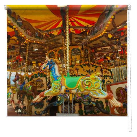 horse patterned roller blinds fairground merrygoround horse printed blind picture