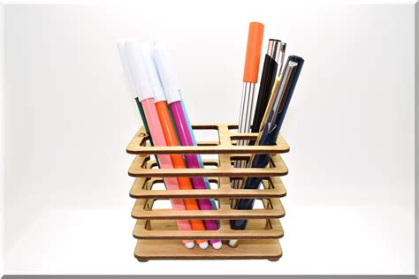 Desk Pencil Holder by Wooden Pen Pencil Holder Rectangle Desk Organizer Wood