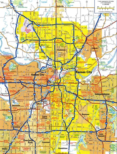 map of kansas city highways and roads map of kansas cityfree maps of us