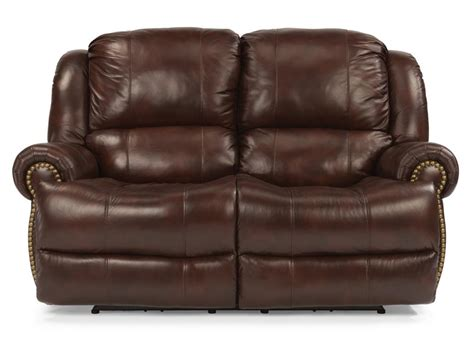 Leather Reclining Loveseat by Flexsteel Living Room Leather Power Reclining Loveseat