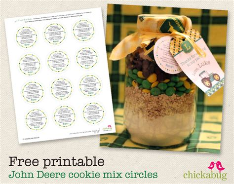 printable cookie jar recipes free printable john deere cookie mix circles chickabug
