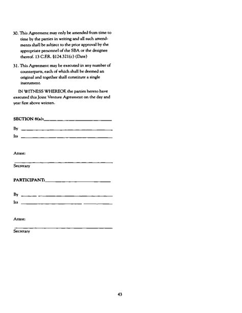 Joint Ventures In Construction Form Free Download Sba Joint Venture Agreement Template