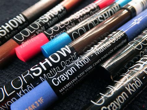 Maybelline Crayon Liner sneak peek maybelline crayon kohl liners for
