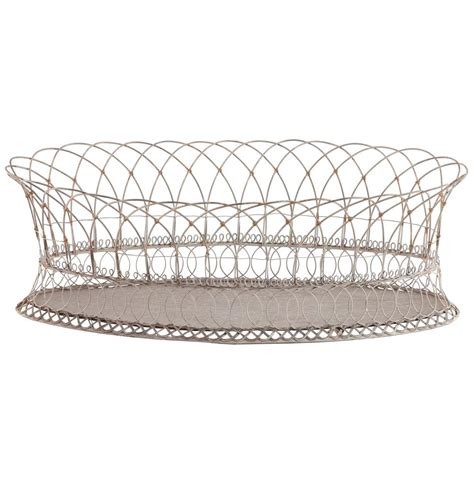 Wire Basket Planter by Harvest Rusted Wire White Oval Planter Baskets Pair