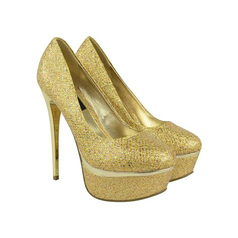 gold sparkly high heels gold glitter court shoe high heels jemm