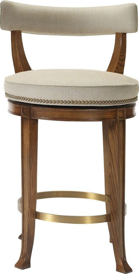 Hickory Counter Stools by Hickory Chair 1911 Collection Newbury Swivel Curved Back Counter Stool Someday Renovation