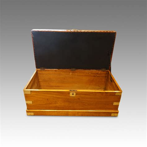ottoman trunk victorian chorwood and leather ottoman trunk