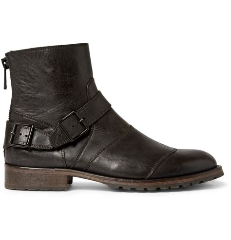 belstaff boots mens belstaff trialmaster leather boots in black for lyst