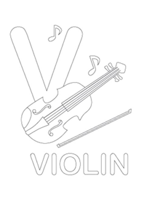 Alphabet V Coloring Pages by Alphabet Letter V Coloring Violin Child Coloring