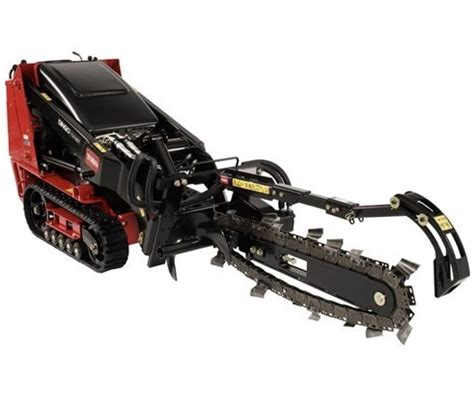 trencher attachment   speed mini skid steer