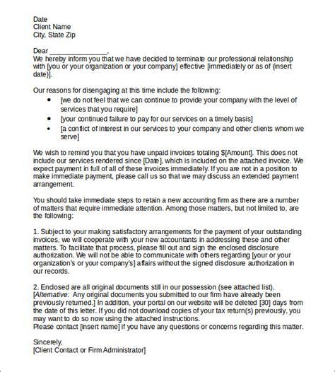termination services letter templates