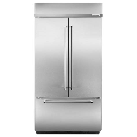 built in refrigerator kbfn502ess kitchenaid 42 quot 24 2 cu ft built in french