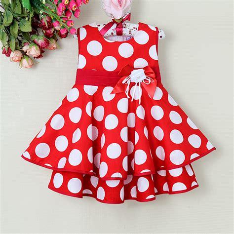 christmas pattern dresses 2015 new summer children pattern dress red girls dot dresses
