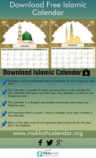 printable downloadable islamiccalendar for the gregorian