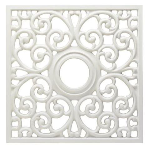 westinghouse 18 in white finish square parisian scroll