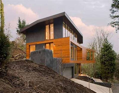 hillside cabin plans luxury hillside house design in twilight did you