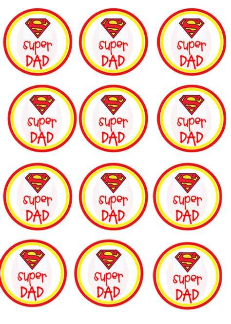 Super Dad Cupcake Toppers