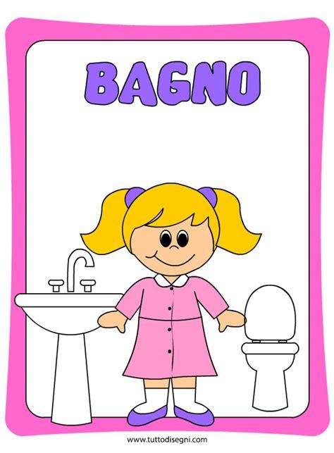 disegno di un bagno cartellone per la porta bagno bambine tuttodisegni