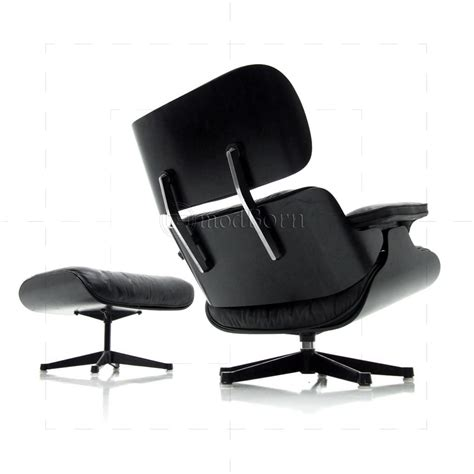 black leather chair and ottoman eames style lounge chair and ottoman black leather black wood