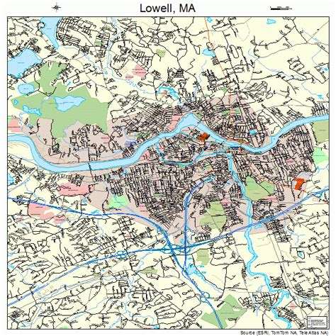 of massachusetts lowell lowell massachusetts map 2537000